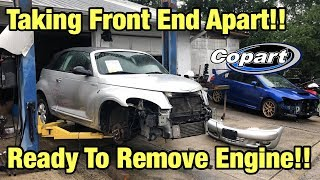 Rebuilding a Totaled wrecked Pt Cruiser Part 1 from copart Salvage Auction