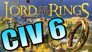 CIV 6 - LORD OF THE RINGS MOD - Civilization 6 Gameplay [AI Only]