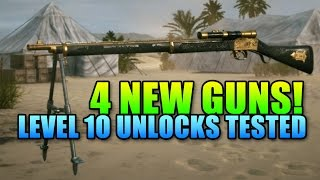 All 4 New Level 10 Guns Tested! - 120 Round Hellriegel Defensive | Battlefield 1