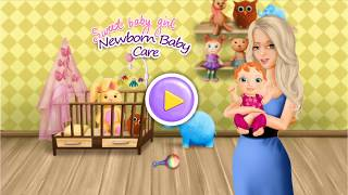 Sweet Baby Girl Newborn Baby - Mommy Care Fun Game Baby Care Dress Up part 2