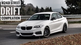 BMW M240i Street Drift Compilation | Straight Pipe Exhaust Sound | Drexler LSD