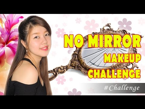 #CHALLENGE || NO MIRROR MAKEUP CHALLENGE