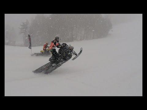 Riding It Hard, Snowmobile Drag Racing (April 2, 2015) 4k HD