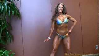 Marcy MC Casey Physique Competitor chats and Poses at the Emarald Cup 2012
