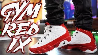 "AIR JORDAN 9 ""GYM RED"" REVIEW AND ON FOOT !!!"