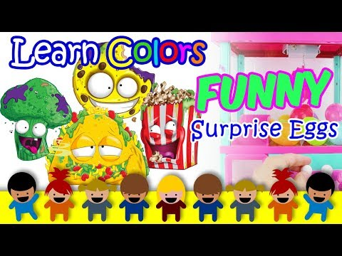 Kids Videos For Kids - Learn Colors For Kids With Surprise Eggs Claw Machine And Fun Preschool Songs