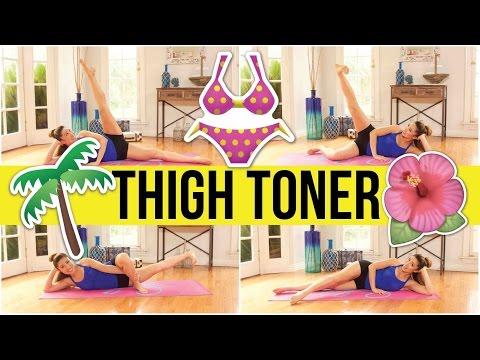 8 min bikini thighs workout! Swimsuit Slimdown Series