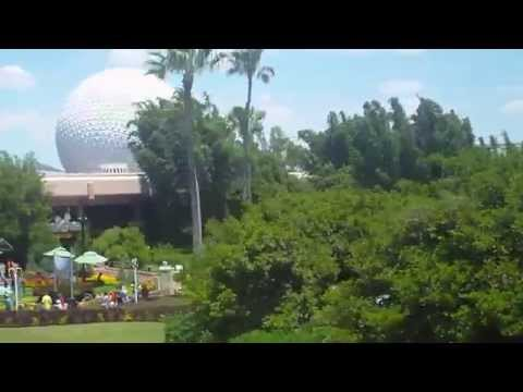 Monorail ride to Epcot Walt Disney World Florida