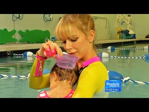 �gueda shared tips on taking your baby to his first swim lesson to prevent accidents in the water. Despierta America! Wake up America to the most recent news and the best in entertainment:...