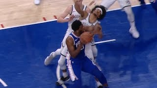Joel Embiid THROWS ELBOW at Jarrett Allen - Game 2 | Nets vs 76ers | 2019 NBA Playoffs