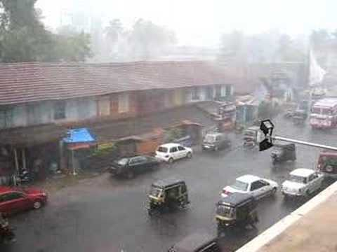 Monsoon rain from Kerala, India !