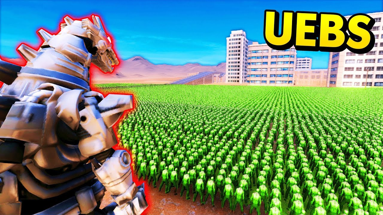 ROBOT GODZILLA vs MASSIVE ARMIES! (UEBS / Ultimate Epic Battle Simulator Mods Gameplay)