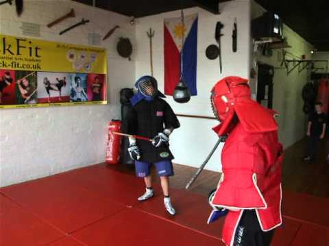 Eskrima Kali Arnis FullContact Stickfighting 14 year old vs Adult  4 Kickfit Nottingham.UK Image 1