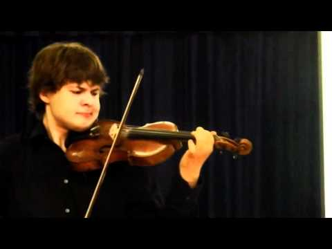 Aleem Kandour In Concert Playing Adagio From Bach Sonata No.1