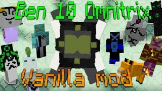BEN 10 in Vanilla Minecraft | 9 Aliens! | Omnitrix in Only one Command