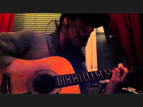 Acoustic cover A boy brushed red living in black and white - Underoath [Revisit]