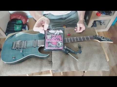 How to change strings on a floyd rose style floating bridge