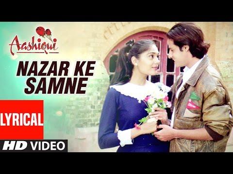 Nazar Ke Samne Lyrical Video    Aashiqui    Kumar Sanu, Anuradha Paudwal