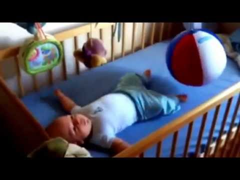 Baby beach ball fun