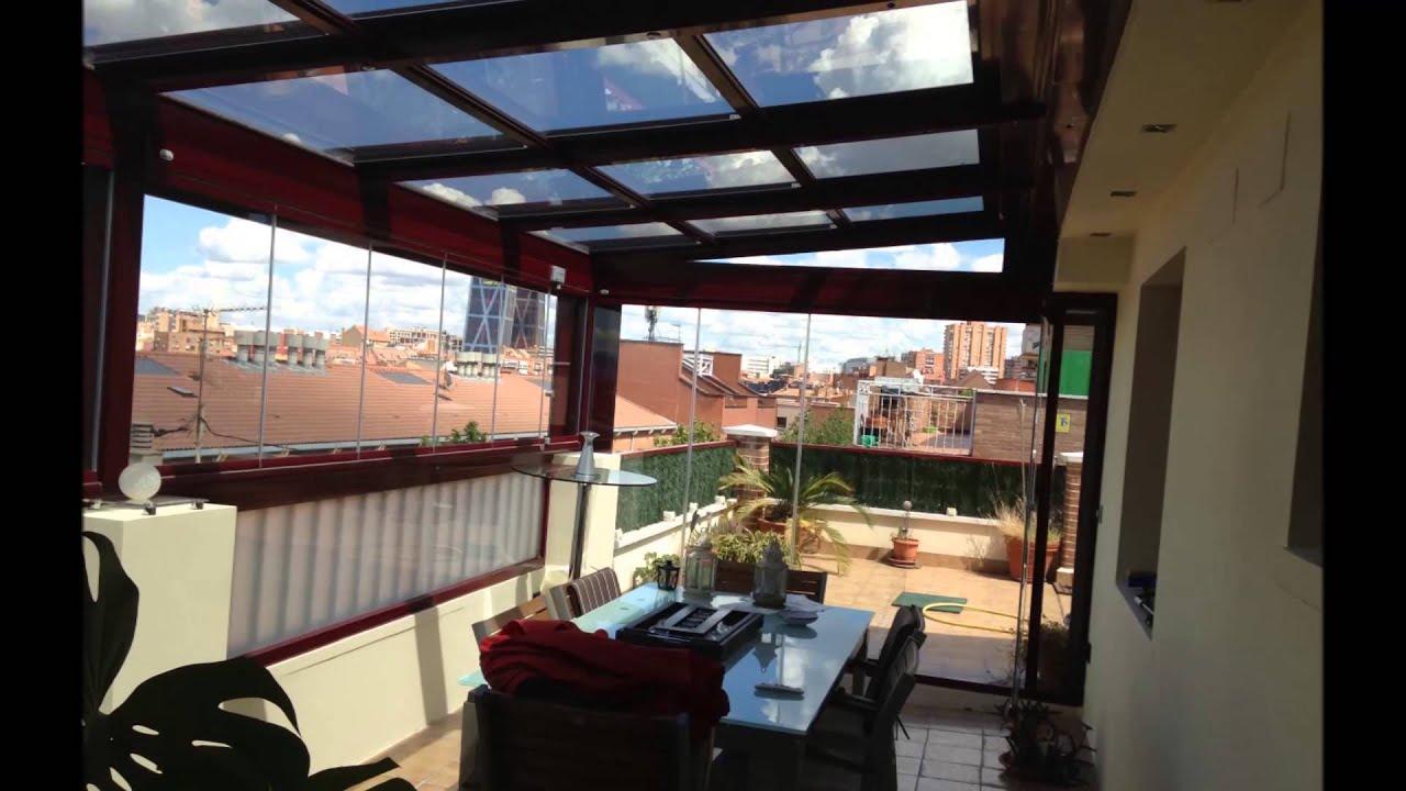 Techo movil vidrio y cortina de cristal youtube - Moviles de techo ...