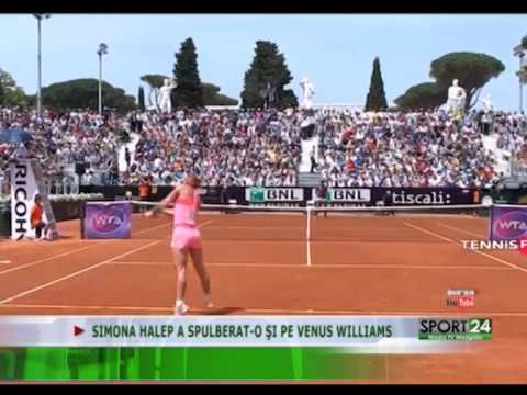 SIMONA HALEP A SPULBERAT O ŞI PE VENUS WILLIAMS 14 05 2015 Media TV Medgidia