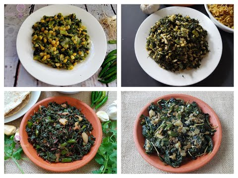 4 Healthy Lunch/Dinner (Green Leafy Vegetables) Recipes for Weight Loss | Easy Healthy Recipes