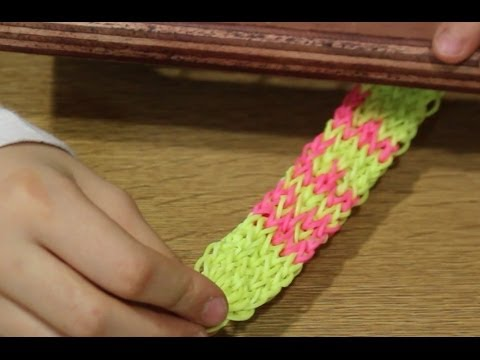 Cómo hacer pulsera de gomitas BFF. Best Friends Rainbow Loom bracelet