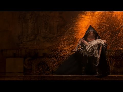 Epic pyrotechnic and fashion combined to make an absolutely insane photoshoot