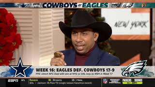 Stephen A. Smith reacts to Cowboys blow chance to win NFC East in 17-9 loss to Eagles