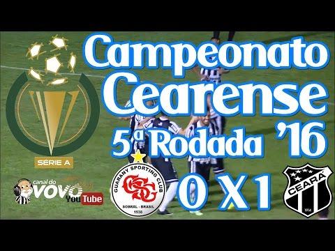 [Cearense '16] Guarany SC 0 X 1 Ceará SC - Fernandinho - Narração: Jota Rômulo