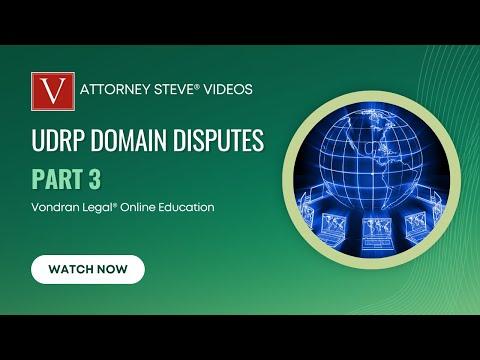 Attorney Steve UDRP domain dispute overview part 3