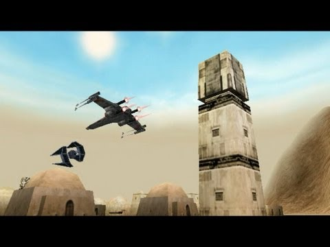 Star Wars Rogue Squadron mission 1 Ambush at Mos Eisley - gold medal