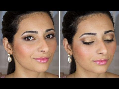 Bridal Makeup Tutorial Brown and Gold Smokey Eye   Le Beauty Girl
