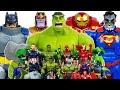 Hulk, Hulkbuster vs Thanos! Avengers Go~! Iron Man, Captain America, Spider-Man! Superman & Batman!