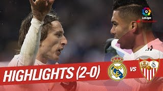Highlights Real Madrid vs Sevilla FC (2-0)