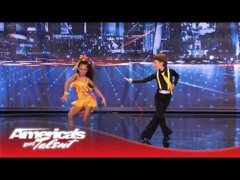 Yasha & Daniela - Amazing Kid Dancers Dance to Pitbull and Tina Turner - America's Got Talent 2013 klip izle