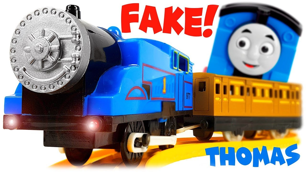 Thomas and Friends Chinese Fake Railway Toys, Review with Original Thomas the Train