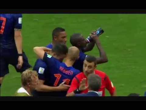 Netherlands vs Spain - Robin van Persie's First Goal - FIFA World Cup 2014