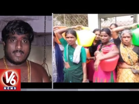 Vallabhapur Villagers Performs Ghatabhishekam For Rains | Medak District | V6 News