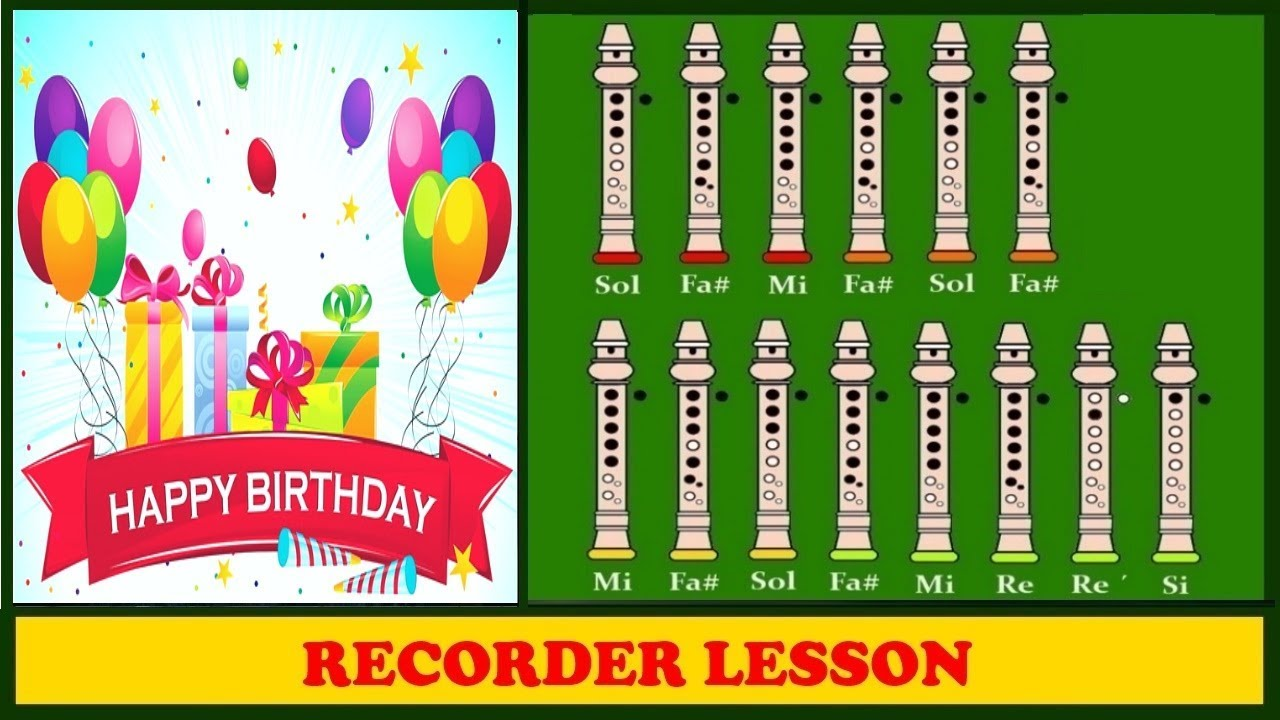 how to play happy birthday on the recorder for beginners