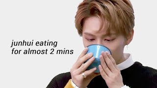 junhui eating for almost 2 minutes