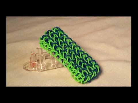 Как сделать браслет из резинок толстый браслет