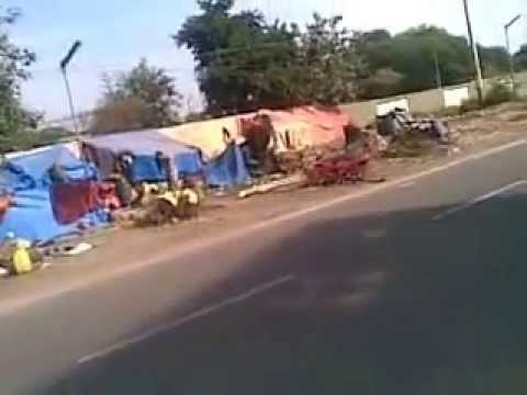 Tribal Construction Workers in Winter in Narendra Modi Ahmedabad 18122014004