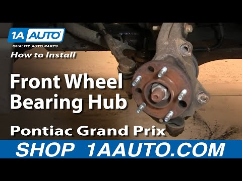 How To Install Replace Front Wheel Bearing Hub Grand Prix Impala Regal 1AAuto.com
