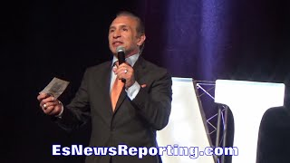 RAY MANCINI NEVADA BOXING HALL OF FAME SPEECH - EsNews Boxing