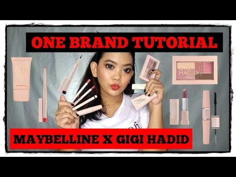 ONE BRAND MAKEUP TUTORIAL #16: MAYBELLINE X GIGI HADID || IS IT WORTH THE HYPE??