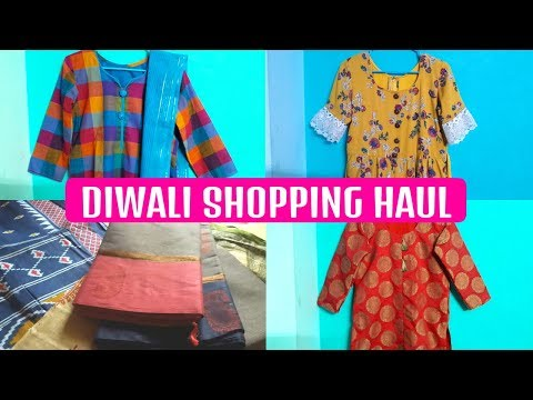 Diwali Shopping Haul Tamil | Long Frock Designs Stitching | Churidar Stitching | Saree Shopping Haul