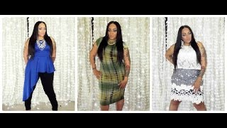 Plus Size Lookbook & Try On Pink Club Wear & Happiness Boutique