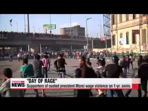 Supporters of ousted president Morsi wage violence on 1-yr. anniv.