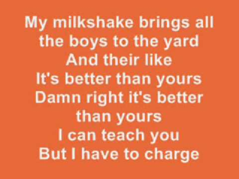 Kelis - Milkshake LYRICS